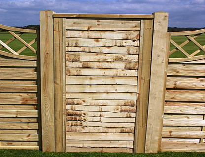 Panel Style Side Gate Lewis Fencing Fencing